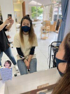 コテ アイロン リュミエリーナ 痛まないアイロン 大津市美容室 滋賀県美容室 大きなクマのいる美容室 キッズカット キッズスペース 広い駐車場 ベビーベット ビフォーアフター